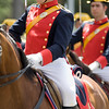 Horseback Civil Guards with full-dress uniform. Taken in Seville (Andalusia, Spain) during a military parade of the Spanish army, 28 May 2006.
