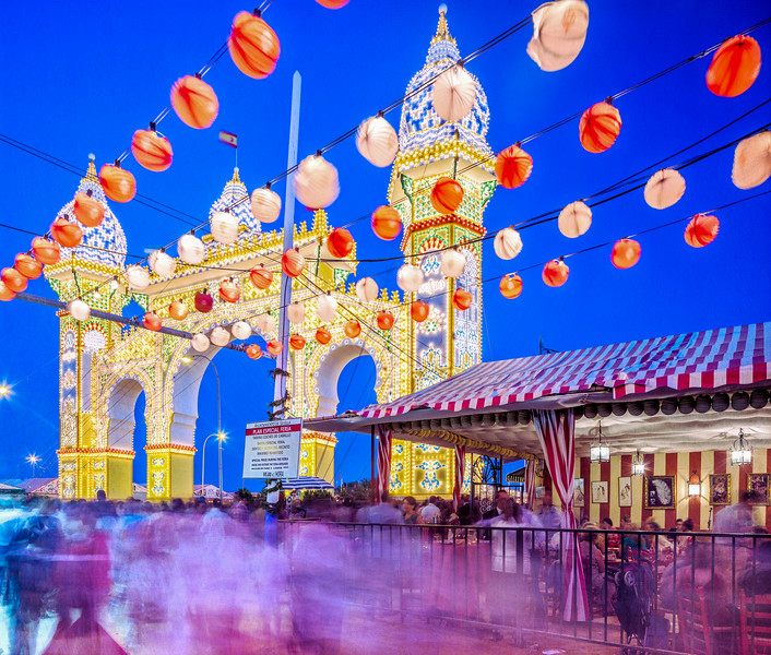 Portada de la Feria de Abril (April Fair's Gateway) 2014, Seville, Spain