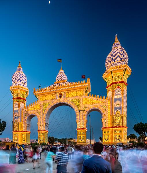 Portada de la Feria de Abril (April Fair's Gateway) 2014, Seville, Spain