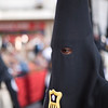 Closeup of a penitent, Holy Week, Seville, Spain