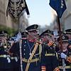Brass band standard-bearers, Holy Week, Seville, Spain