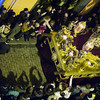 Aerial view of Jesus del Gran Poder on the float, Good Friday dawn processions, Seville, Spain
