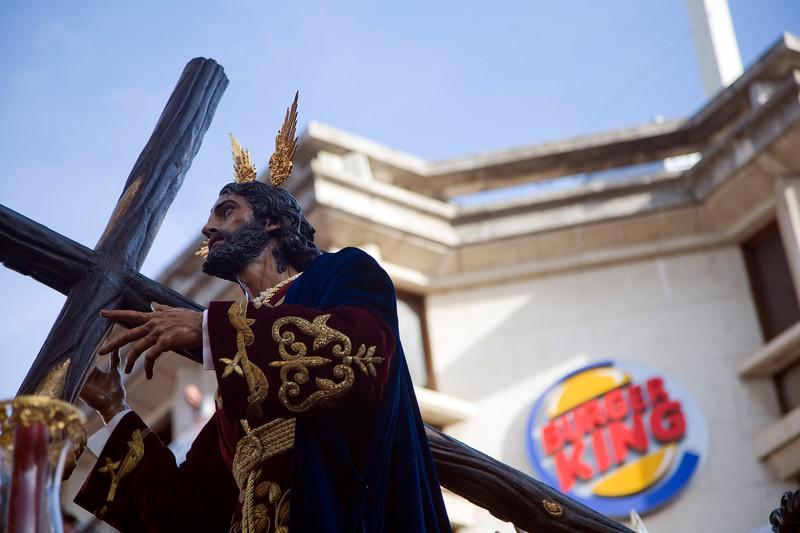 Jesus of the Victory, La Paz brotherhood, Palm Sunday, Seville, Spain