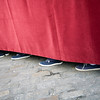 Feet of float bearers, Holy Week, Seville, Spain