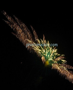 Green, Yellow, White Fireworks