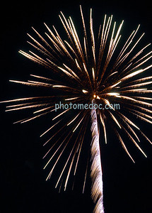 White and Orange Fireworks