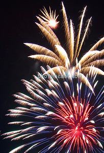 Red, Blue, and Yellow Fireworks