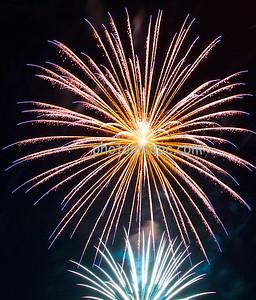 Blue, Yellow Fireworks