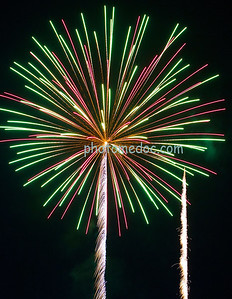 Green and Pink Fireworks