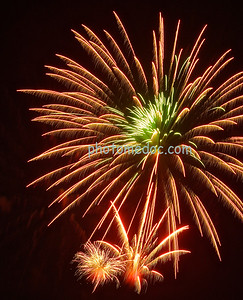 Orange Fireworks