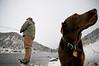 Hula and Jim Valentine on the Lower Madison River, Montana.