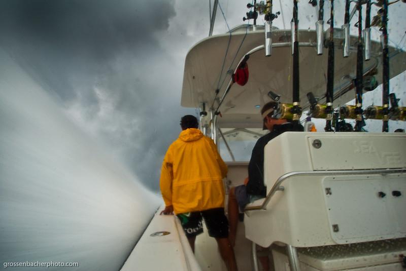Rough Seas.  Rainy Season in Panama isn't touted in tourist literature.