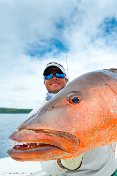 Juan Andres Sprague with a Cubera Snapper.