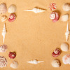 Seashell and Sand Picture Frame