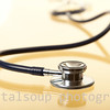 Stethoscope with Reflection on Gold
