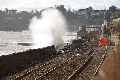 1775 Dawlish damaged Rail