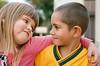 Indigenous Australian Boy and Caucasian Girl