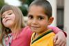 Aboriginal Boy and Caucasian Girl