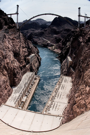 Hoover Dam and the Hoover Dam Bypass Bridge