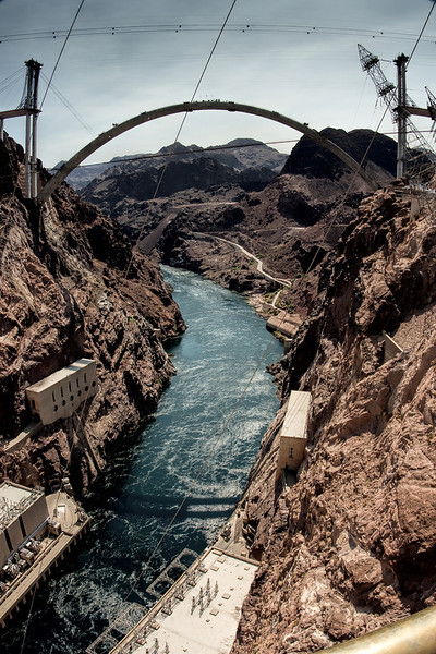 Hoover Dam Bypass Bridge Contruction