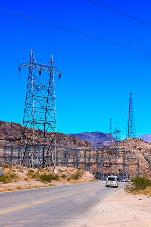 Power Transmission Towers by Highway