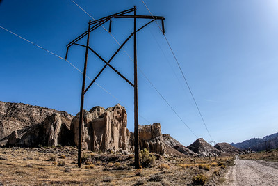 Power Transmission Pole on the Cottonwood Road