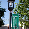 Lamppost and banner in downtown Kerrville, Texas
