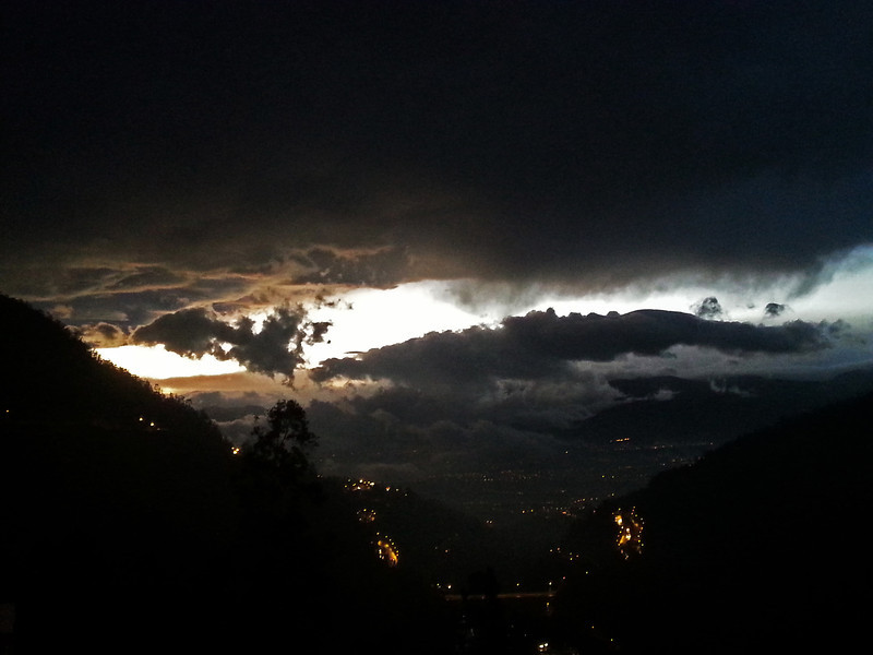 Early morning view from Guapulo, Quito
