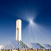 Tower of a solar plant, Seville, Spain
