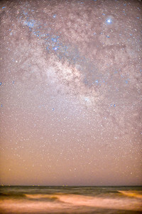 Starry sky on a moonless night, Punta del Moral, Ayamonte, Spain