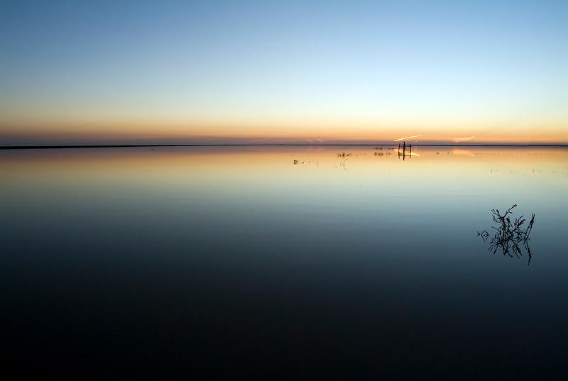 Sunset on Donana marshland, Spain
