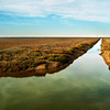 Irrigation canal near Donana national park, Spain