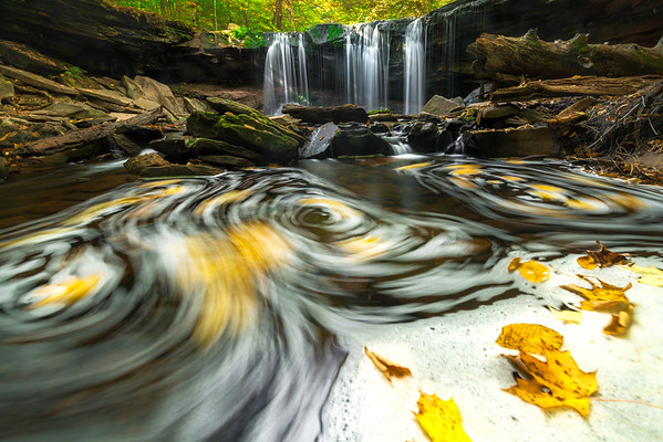 """""""Triple Swirls"""" - Ricketts Glen State Park, PA   Recommended Print sizes*:  4x6  