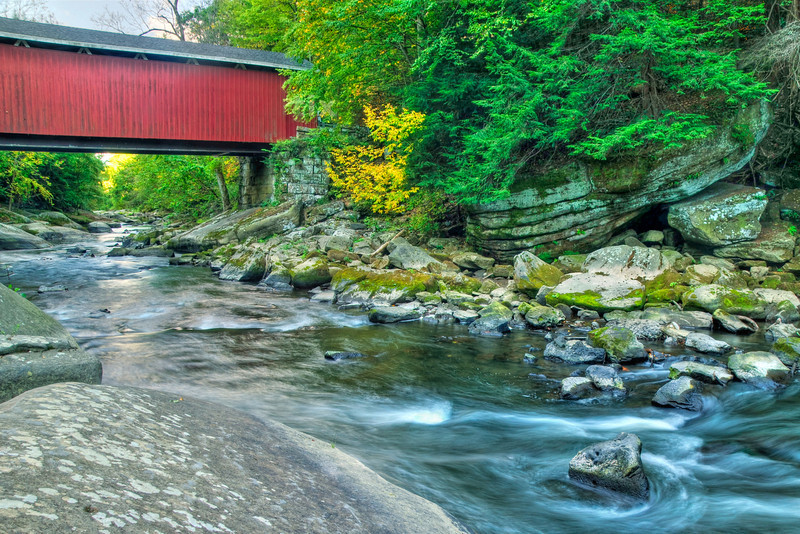 """""""Covered Bridge"""" - McConnell's Mill State Park   Recommended Print sizes*:  4x6      8x12     12x18     16x24     20x30     24x36 *When ordering other sizes make sure to adjust the cropping at checkout*  © JP Diroll 2011"""