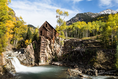 Crystal Mill with Autumn trees changing yellow