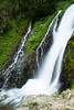 Waterfall and small cascade in forests of Washington State