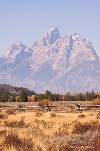 Grand Teton Through Wildfire Haze