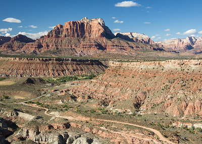The Zion skyline from Smithsonian Butte to the south.