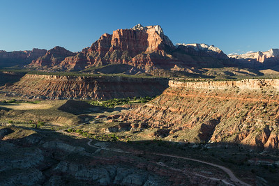 Sunset over Zion National Park in Southern Utah.
