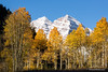 Maroon Bells over Aspen trees in fall