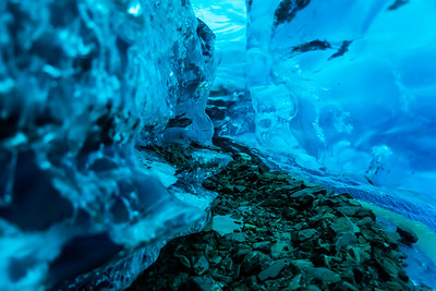 Ice canyon cut through the Salmon Glacier in remote Canadian Wilderness.
