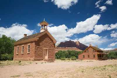 House and school building from a late 1800's settlement in Southern Utah.