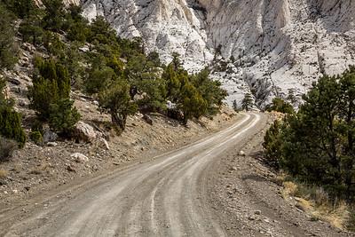 Strange white rock of Crystal Peak in Utah