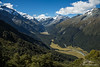 Valley below Mount Aspiring of the South Island of New Zealand