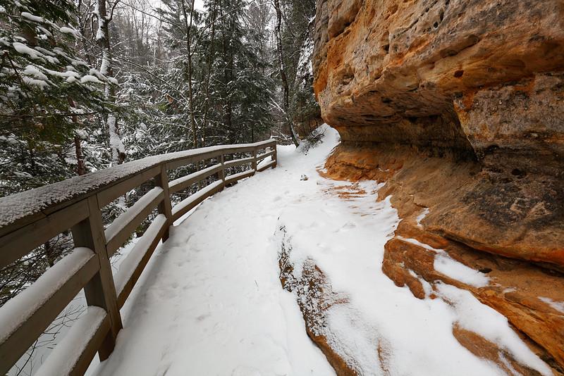 Munising Falls Trail In Winter - Pictured Rocks National Lakeshore (Munising, MI)