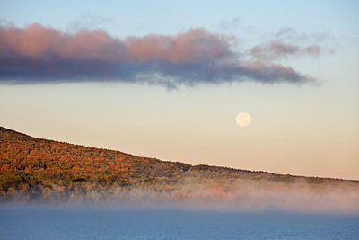 Moon Over Union Bay (Porcupine Mountains State Park - Upper Michigan)