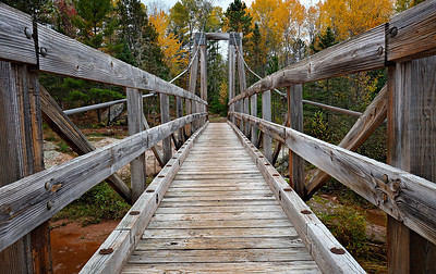 North Country Trail Bridge (O Kun De Kun Falls Area - Upper Michigan)