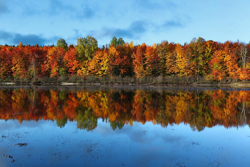 Thornton Lake Fall Colors (Hiawatha National Forest - Upper Michigan)