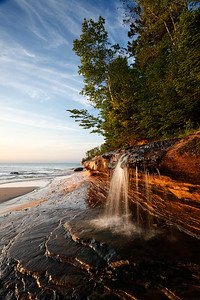Elliot Creek Falls - Miners Beach (Picture Rocks National Lakeshore - Upper Michigan)