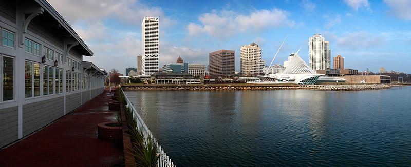 Milwaukee Skyline from Harbor House - Milwaukee, WI